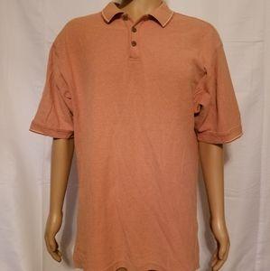 Tommy Bahama polo Shirt Mens large orange